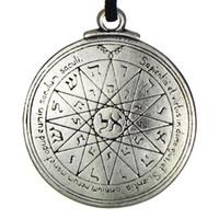 quecksilber anhänger großhandel-New Punk Amulett Anhänger Pentacle of Mercury Talisman Schlüssel von Solomon Seal Anhänger Hermetic Enochian Kabbalah Pagan Wiccan Jewelry