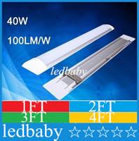 lâmpadas fluorescentes t8 venda por atacado-Tubo T8 LED Tri-prova Luz Batten 1FT 2FT 3FT 4FT À Prova de Explosão Duas Luzes LED Tubo Substituir Lâmpada Fluorescente Luminária de Teto Grille