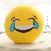 Wholesale Skin For Sofa - Fashion Soft Emoji Pillows Skins Round Cushion Home Textile Pillow Emotions Smiley Cotton Sofa Plush For Adults Childs 77