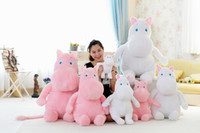 Wholesale hippo stuff - 30cm 50cm 80cm 100cm 120cm size white hippo Plush Toys doll hippo Stuffed Animal Toys comfortable plush doll as best gifts for kid