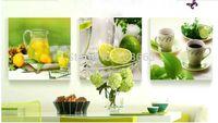lona da pintura a óleo para a cozinha venda por atacado-3 Painel de Frutas Pintura A Óleo Da Cozinha Na Lona Imagens Grandes Arte Da Parede Cuadros Para Sala de estar Cartaz Impressões