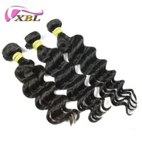 Wholesale Cheap Light Brown Weave - Malaysian Loose Body Human Hair 3pcs XBL Hair Products Malaysian Hair Weave Bundles,Cheap Malaysian Hair No Tangle