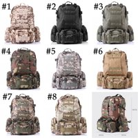 Wholesale Tactical Duffel - Unisex Outdoor 3D Military Tactical Backpack Rucksack Sport Travel Hiking Trekking Bag 8 Color Free DHL E599L
