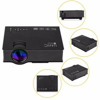 UNIC UC46 Mini projetor portátil 800x480 1200 Lumens 1080p Full HD com Wi-Fi Connection Home LED Theater Projetor de Vídeo UC46
