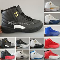 Economici New Retro 12 XII mens Scarpe da basket per uomo ovo White Flu Gioco GS Barons Wolf Grey Gym Red Taxi Playoffs French Blue Sneaker Shoes