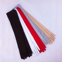 manches pour gants achat en gros de-6 couleur femmes soirée longue gants de mariée mariage satin bras gants à la main