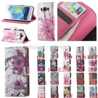 Wholesale Lg Optimus L5 Phone Cases - HOT!Colorful Folwer Wallet Leather Case For LG Optimus L5 II E460 Case Flip Card Slots Phone Cases For LG E460 Capa Cover Fundas