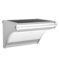 Wholesale wireless security sensors online - Solar LED Wall Lamp mAh W Motion Sensor Solar lights Security Night Light Wireless Solar Powered Wall Lamp For Outdoor Patio Garden