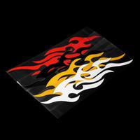 calcomanías llamas del coche al por mayor-Etiqueta engomada del coche universal Styling Motor campana Motocicleta Decal Decoración Mural Vinilo Cubre Accesorios Auto Flame Fire