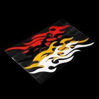flamme aufkleber aufkleber großhandel-Universal Auto Aufkleber Styling Motorhaube Motorrad Aufkleber Decor Wandvinyl Abdeckungen Zubehör Auto Flamme Feuer