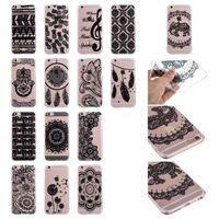 Wholesale Iphone 5c Elephant Case - Flower Henna Paisley Mandala Soft TPU Case For Iphone X 8 7 6 6S Plus SE 5 5S 5C Dandelion Sunflower Pineapple Elephant tribe ultrathin Skin