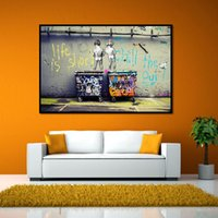 Trash Can Graffiti the Walls Pintura decorativa Wall Spray Painting Living Room Sofa