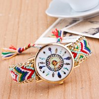 Wholesale Cheapest Casual Watch - New Cheapest Colorful High Quality relogio feminino relojes mujer Girls Bracelet Watch lady Dream Catcher Braid Watches Wristwatches