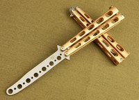 Wholesale Aluminum Metal Blade - New Practice Benchmade C33 Balisong Butterfly Knife Style Hole Shape Metal Trainer Tool Cool Sports EDC Hand Tools