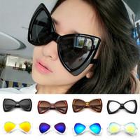 Wholesale Bow Glasses Frame - Fashion Bowknot Frame Big Lens Bow Knot Eyewear Shades Glasses UV400 Protection Sunglasses