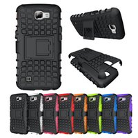 Wholesale Hybrid Cellphone Cases - For LG K4 Slim Armor Defender Case Hybrid Silicone Holder Stand Shell Shockproof Cover Heavy Duty Shockproof Cellphone Cases