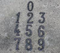 ingrosso lettere di numeri antichi-30 Pezzi Rustico Marrone Ghisa Numero 0-9 lettera Alfabeto A-Z Antico Metallo Porta di casa Numeri Negozio Numeri Lettere Decorazioni per la casa