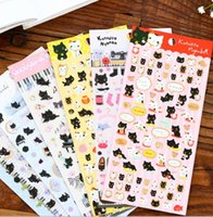 Wholesale Deco Cat - Japan Kawaii Happy Cat series sticker  Gilding style DIY deco sticker office school supplies wholesale , free shipping