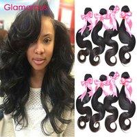 Wholesale Cuticle Brazilian - Glamorous Peruvian Malaysian Indian Brazilian Virgin Hair Body Wave 4 Bundle 8-34Inches Full Cuticle 100% Remy Hair Weaves for Black Women