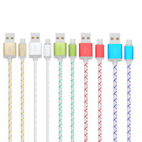 Wholesale Reliable Gold - Tensible Faster Durable Stable Reliable 2A Micro USB Charging Cable Dedicated Data Line for HTC Sony LG Android Phones