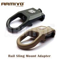 accesorio de pistola al por mayor-Armiyo Rail Steel Swivel Gun Sling Buckle Accesorio de montaje Adaptador Fit Airsoft Multi Mission Sling Hunting
