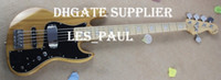 Wholesale jazz pickups - Custom Shop Rare Guitar Nature Marcus Miller Signature 5 String Jazz Bass Electric Guitar Two 9V Batter Back Boxes Active Pickups