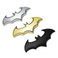 Wholesale Batman Metal Car Decal - 3D Metal Bats Car stickers metal car logo badge badge Last Batman logo stickers decals motorcycle Styling decals Car Styling