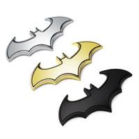 ingrosso logo del batman bat-3D metallo pipistrelli adesivi per auto in metallo auto logo distintivo distintivo ultimo Batman logo adesivi decalcomanie decalcomanie styling per auto car styling