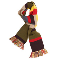 Wholesale Dr Doctor Who Warm Scarf Cosplay Fourth th DELUXE Tom Baker Striped All match scarf
