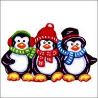 Wholesale Children Kids Love Cute Penguin Mat Gift Hand Hooked Living Door Mats New Embroidered Porch Doormat Floor Karpet Bedroom Rugs