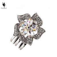 Wholesale Metal Hair Claws Clips - Wholesale Small Mini Size Silver Metal Hair Claw Clips with Crystal Rhinestones Girls Womens Cute Hair Jewelry Clamps Hair Pin Accessories
