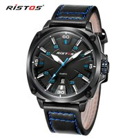 Wholesale Russia Pins - Ristos 2016 New Luxury Brand Fashion Sport Quartz Watch Men Business Watch Russia Army Military Corium Leather Strap Wristwatch