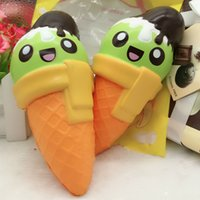 Wholesale Ice Cream Gifts Kids - New Jumbo Kawaii Ice Cream Cone Squishy Super Slow Rising Sweet Scented Vent Charm Bread Cake Kid Toy Gift