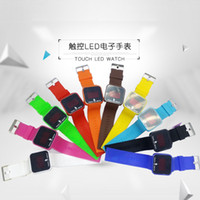 Wholesale Ladies Outdoor Watches - Promotion! New Colorful Touch Screen LED Date Silicone Men Lady Outdoor Sport Watch lot 100pcs Free shipping