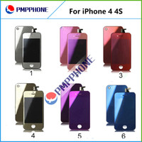 Wholesale Wholesale Mirror Iphone Digitizer - Excellent Quality Wholesale price mirror Color for iphone 4 & 4S CDMA LCD Screen Replacement & Touch Screen Digitizer Full Assembly