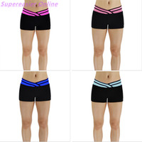 Wholesale Sexy Women S Sports Jerseys - Fashion Women Yoga Shorts Gym Running Fitness Sports Pants Sexy Beach Short Pants Elastic V Waist Tights Skinny Casual Outwear Exercis Pants