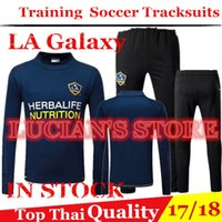 Wholesale galaxy jackets - 2018 Top Quality LA Galaxy Training Suits GERRARD Tracksuits KEANE GIOVANI BECKHAM Training Jacket Chandal Tracksuits Sweatshirt Survetement