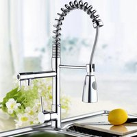 Wholesale Torneira Pull Down Spray - Wholesale- Ouboni Kitchen Faucet Torneira 97168D056 1 Kitchen Swivel Spout Single Handle Sink Faucet Pull Down Spray Mixer Tap