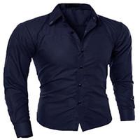 Wholesale Wholesale White Button Down Shirts - Wholesale-Abetteric Men's Simple Checkered Button Down Shirt Plus Size M-5XL Free Shipping