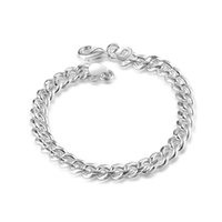 Wholesale 925 curb clasp for sale - Group buy Men s Jewelry Sterling Silver Curb Chain Bracelet w Lobster Clasp mm inches
