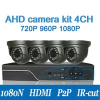 Wholesale Dvr 6mm - 1080N-H AHD CCTV Camera kit 720P 960P 1080P Camera with 1080N 4CH dvr set camera waterproof IP66 lens 6mm 3.6mm optional AT