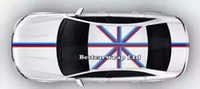Wholesale White Car Hood Sticker - Blue white red Flag Hood Stripes Car Stickers Decal for Bonnet, Roof, Trunk for Volkswagen Mini DIY Car decals 15cmx30m Roll