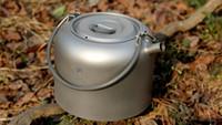 Wholesale Titanium Camp Pot - Keith Titanium Kettle Ti3907 Camping Picnic Coffee Tea Pot Cookware 200g 1.5L with Mesh bag