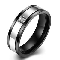 Wholesale Anniversary Specials - Hot Sale Special Christmas Gifts LOVE YOU Top Titanium Zircon Rings Men's Brief Jewelry Fashion Stainless steel Rings High Quality Wholesale