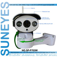 Wholesale Suneyes Wifi Wireless - SunEyes SP-P703W Wifi Wireless Outdoor IP Camera Pan Tilt Rotation ONVIF 720P HD with TF Micro SD Slot Two Way Audio Array IR