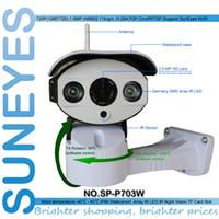Wholesale Ip Camera Array - SunEyes SP-P703W Wifi Wireless Outdoor IP Camera Pan Tilt Rotation ONVIF 720P HD with TF Micro SD Slot Two Way Audio Array IR
