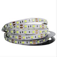 led diyot beyaz smd toptan satış-SMD 5050 LED Şerit 5 M 60led / m 12 V Esnek Şerit Diyot Bant RGB Beyaz Sıcak Beyaz Kırmızı Yeşil Mavi Sarı Işık