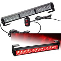 12 LED Strobe Lights Bar pour Truck Emergency Warning Traffic Advisor Red
