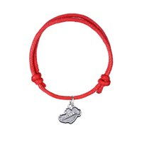 Wholesale Fashion Ireland - Multi Colors Adjustable Wax Cord Bracelet Antique Silver Plated Ireland Map Charm Fashion Jewelry Accessories For Gift
