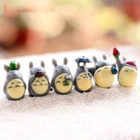 Wholesale Wholesale Plastic Craft Decorations - Hayao Miyazaki Series Gnome Resin Craft Toy Terrarium Figurines Micro Landscape Mini Garden Decoration Miniatures 12pcs Lot